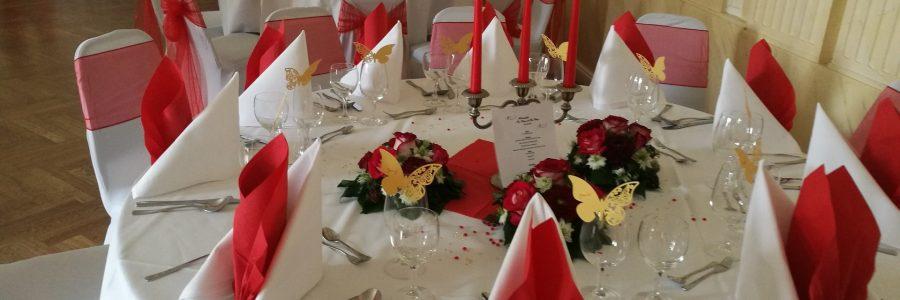 Goethe Saal – Geburtstag – Tischdekoration