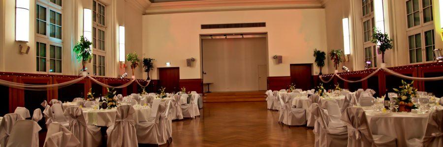 Der Rüdiger Saal als Hochzeitslocation